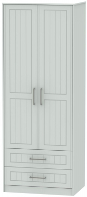 Botany Bay Painted 2 Door 2 Drawer Tall Double Wardrobe
