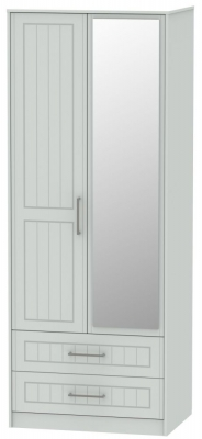 Botany Bay Painted 2 Door 2 Drawer Tall  Mirror Wardrobe