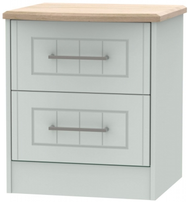 Botany Bay Painted 2 Drawer Locker Bedside Cabinet