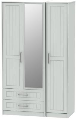 Botany Bay Painted 3 Door 2 Drawer Tall Mirror Triple Wardrobe