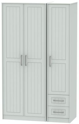 Botany Bay Painted 3 Door 2 Drawer Tall Plain Triple Wardrobe