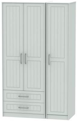 Botany Bay Painted 3 Door 2 Drawer Tall Triple Wardrobe
