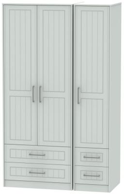 Botany Bay Painted 3 Door 4 Drawer Tall Triple Wardrobe