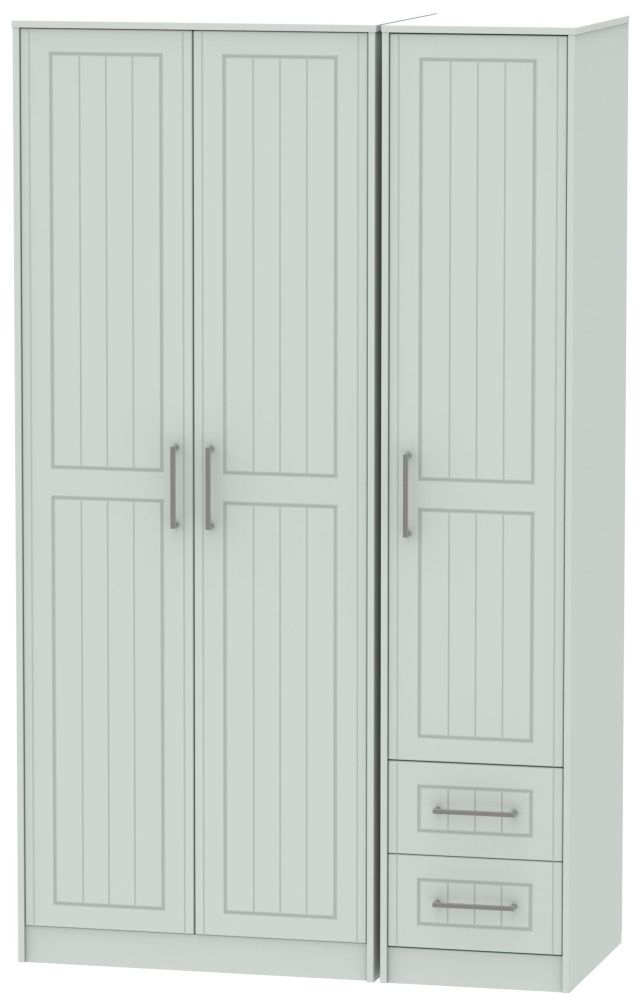 Botany Bay Painted 3 Door 2 Drawer Tall Plain Triple Wardrobe