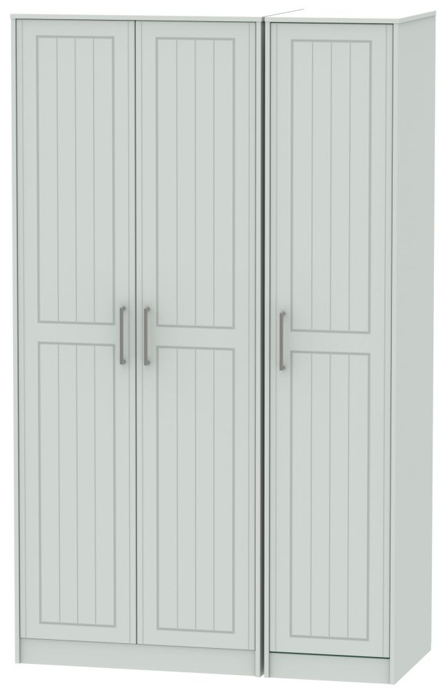 Botany Bay Painted 3 Door Tall Plain Triple Wardrobe