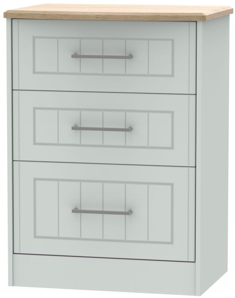 Botany Bay Painted 3 Drawer Deep Midi Chest