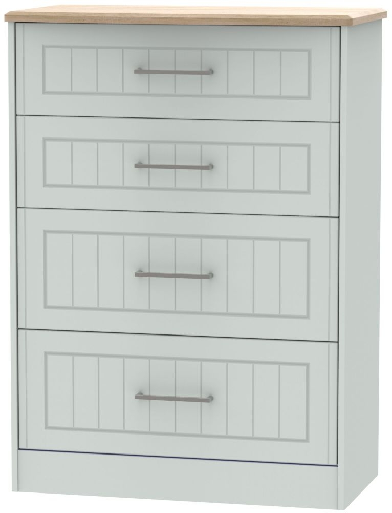 Botany Bay Painted 4 Drawer Deep Chest