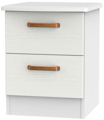 Buckingham Aurello White 2 Drawer Bedside Cabinet