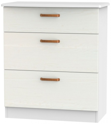 Buckingham Aurello White 3 Drawer Deep Chest