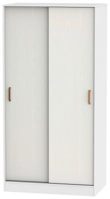 Buckingham Aurello White 2 Door Sliding Wardrobe