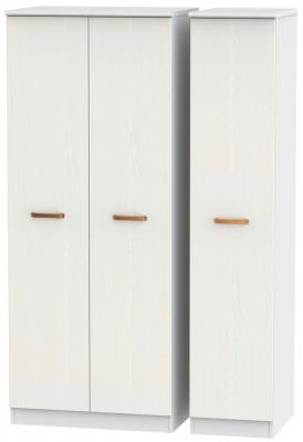 Buckingham Aurello White 3 Door Plain Wardrobe