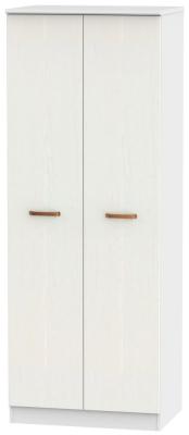 Buckingham Aurello White 2 Door Tall Wardrobe