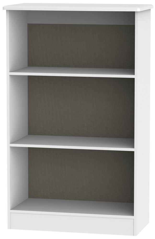 Buckingham Aurello White Bookcase