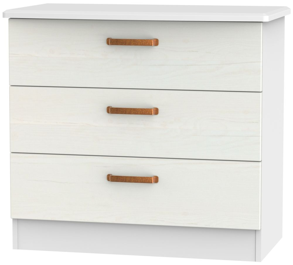 Buckingham Aurello White Chest of Drawer - 3 Drawer