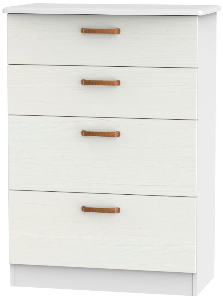 Buckingham Aurello White 4 Drawer Deep Chest