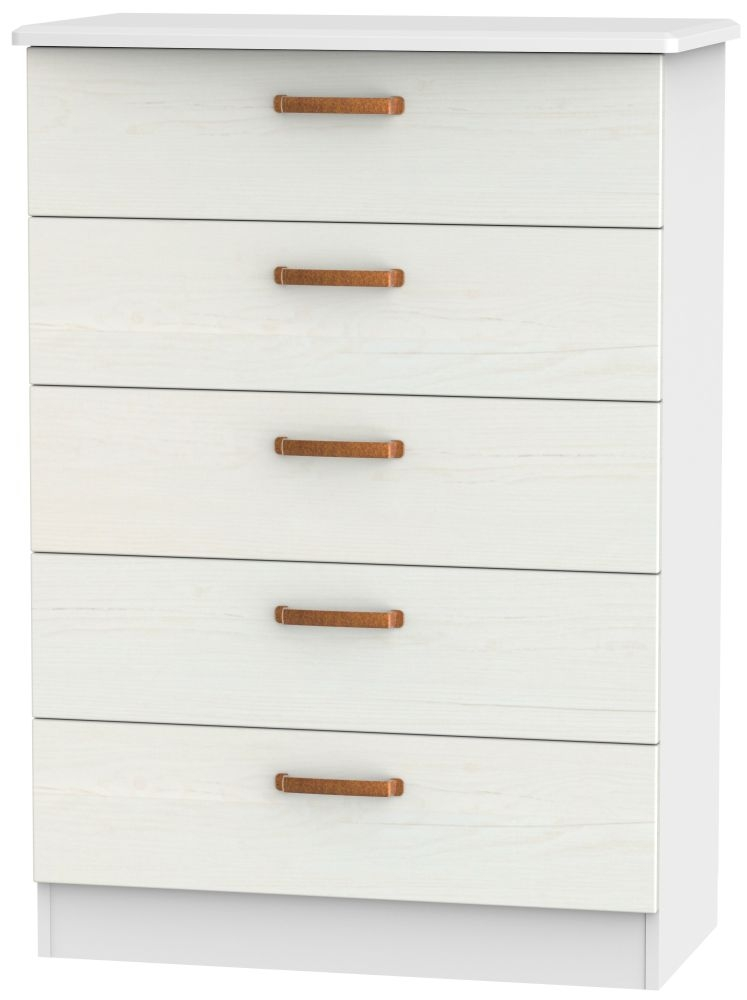 Buckingham Aurello White 5 Drawer Chest