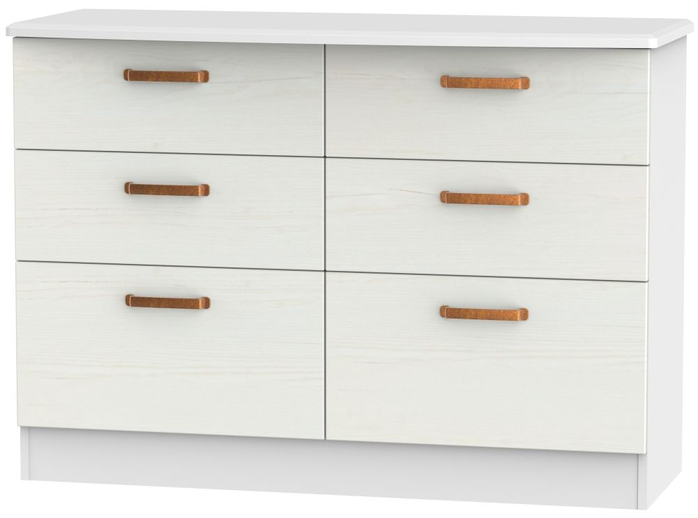Buckingham Aurello White 6 Drawer Midi Chest