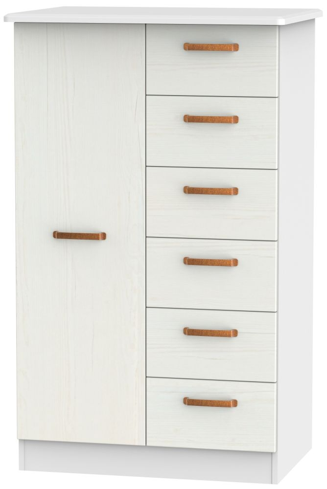 Buckingham Aurello White 1 Door Children Wardrobe