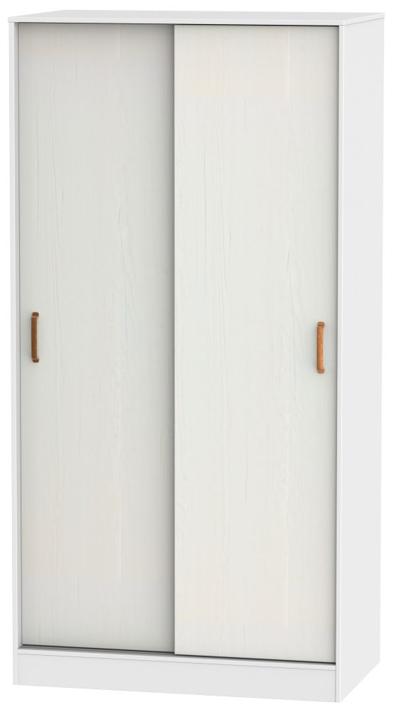 Buckingham Aurello White 2 Door Sliding Wardrobe