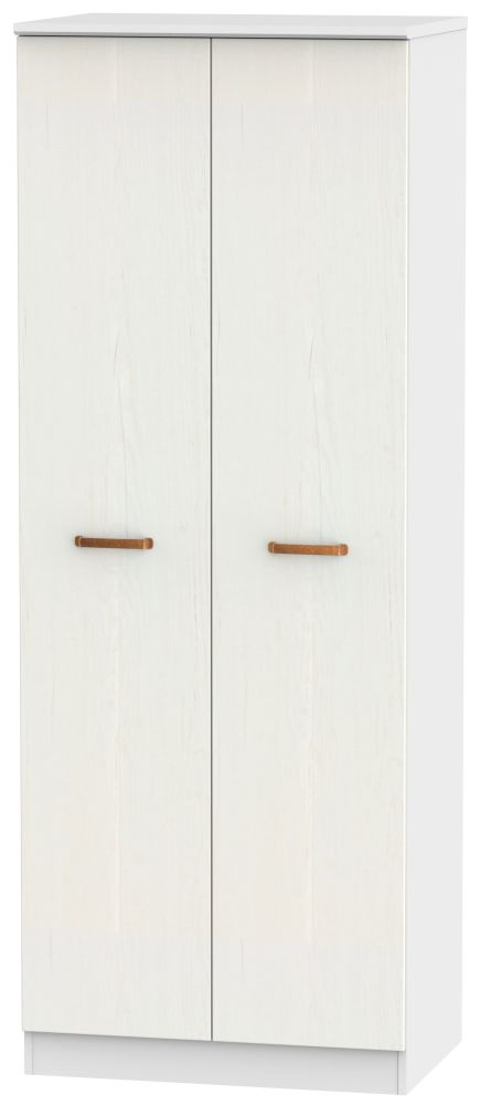 Buckingham Aurello White 2 Door Tall Wardrobe