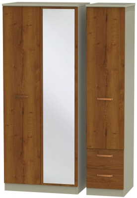 Buckingham Bali Oak 3 Door 2 Right Drawer Combi Wardrobe