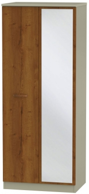 Buckingham Bali Oak 2 Door Mirror Wardrobe