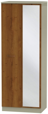Buckingham Bali Oak 2 Door Tall Mirror Wardrobe