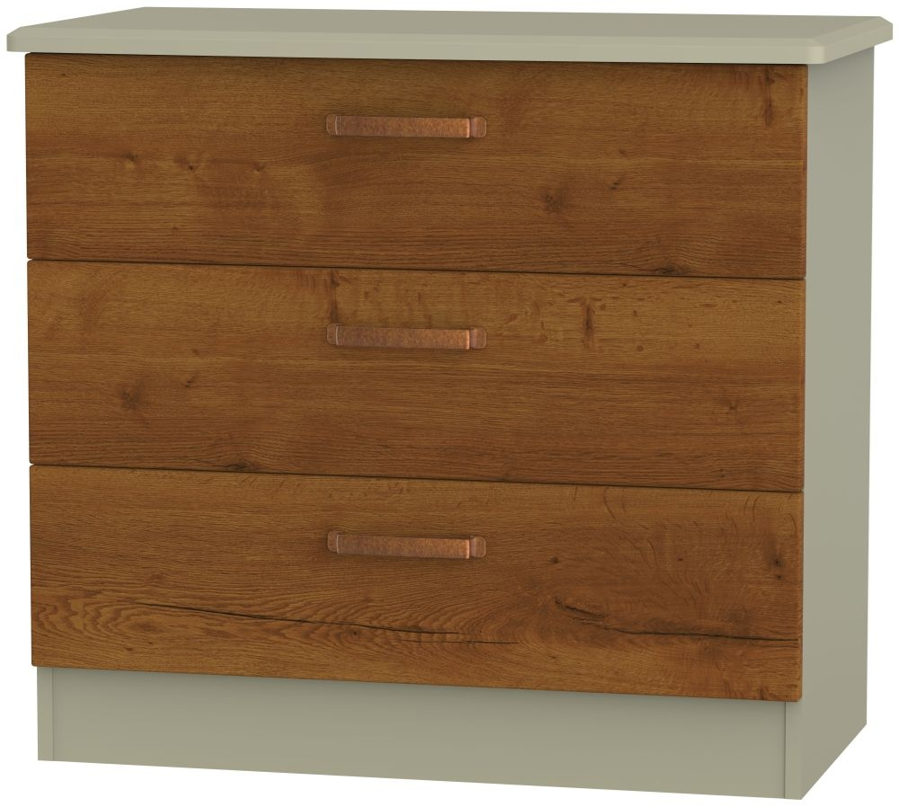 Buckingham Bali Oak Chest of Drawer - 3 Drawer