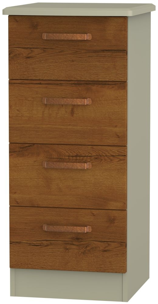 Buckingham Bali Oak Chest of Drawer - 4 Drawer Locker