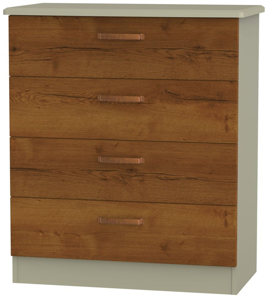 Buckingham Bali Oak 4 Drawer Chest