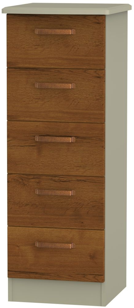 Buckingham Bali Oak Chest of Drawer - 5 Drawer Locker