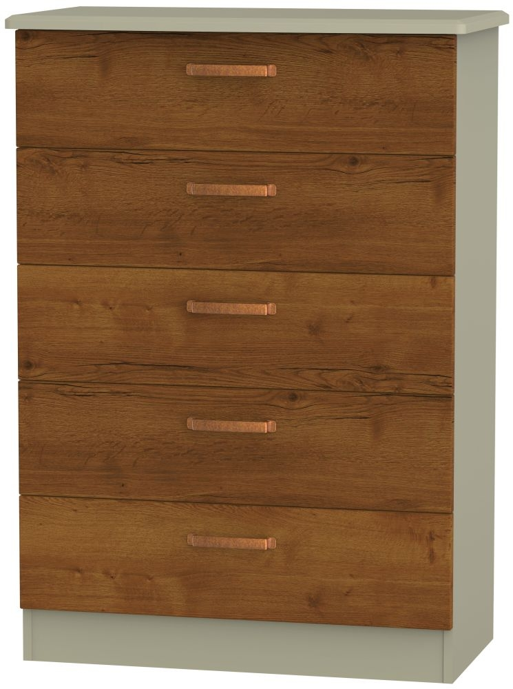 Buckingham Bali Oak 5 Drawer Chest