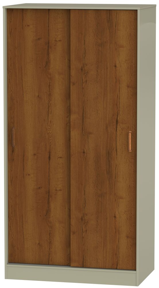 Buckingham Bali Oak Sliding Wardrobe - Wide