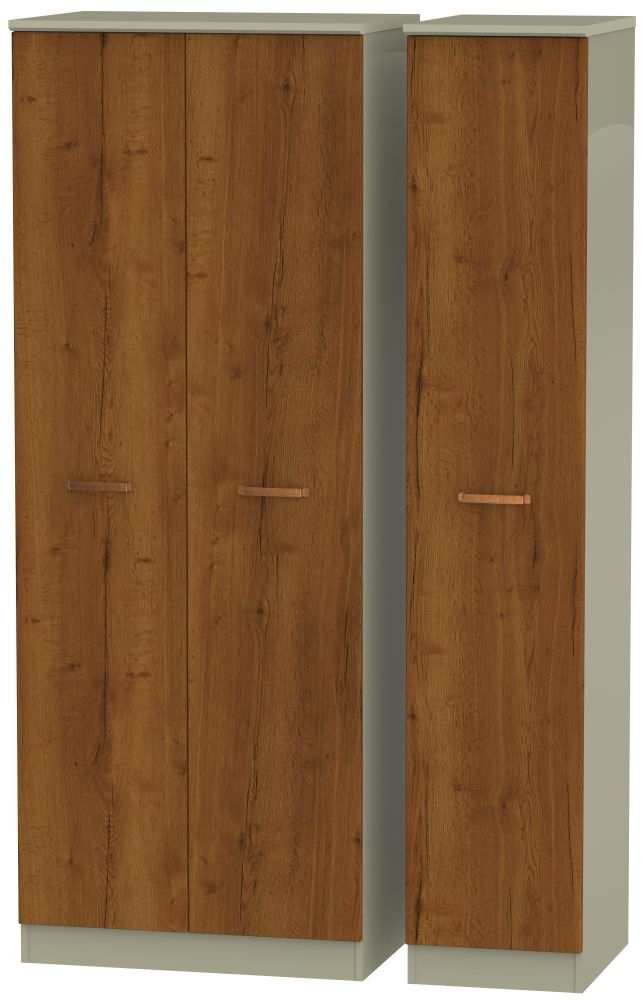 Buckingham Bali Oak Triple Wardrobe - Tall Plain