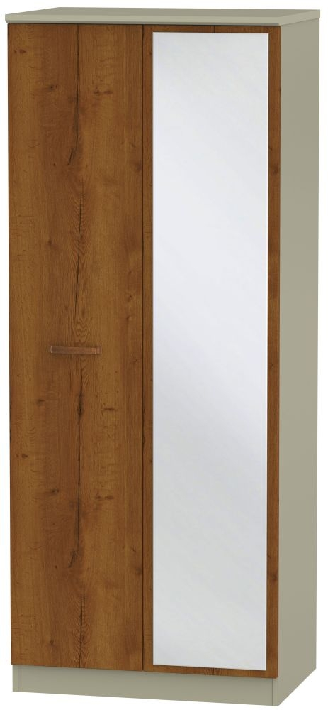 Buckingham Bali Oak Wardrobe - 2 ft 6in with Mirror