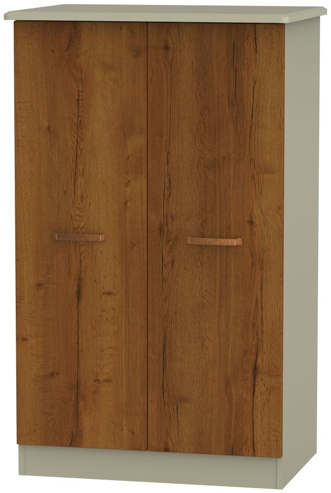 Buckingham Bali Oak Wardrobe - 2ft 6in Plain Midi