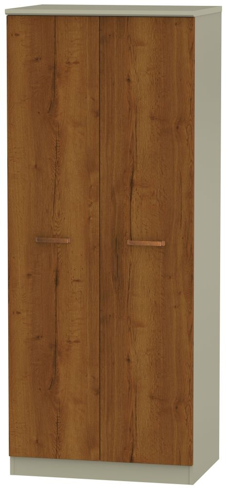 Buckingham Bali Oak 2 Door Wardrobe