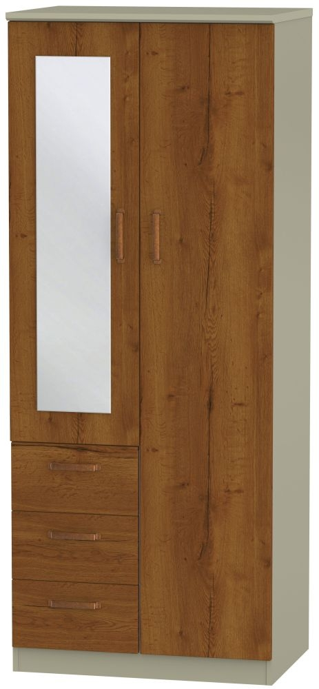 Buckingham Bali Oak Wardrobe - Combi