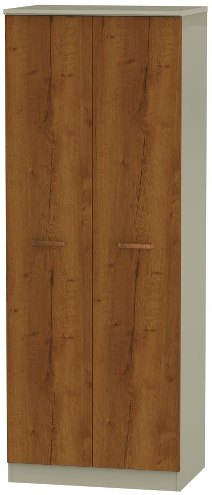 Buckingham Bali Oak 2 Door Tall Hanging Wardrobe