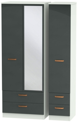 Buckingham Graphite 3 Door 4 Drawer Tall Combi Wardrobe