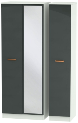 Buckingham Graphite 3 Door Tall Mirror Wardrobe