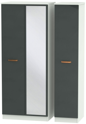 Buckingham Graphite 3 Door Mirror Wardrobe