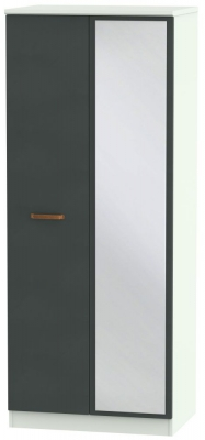 Buckingham Graphite 2 Door Mirror Wardrobe