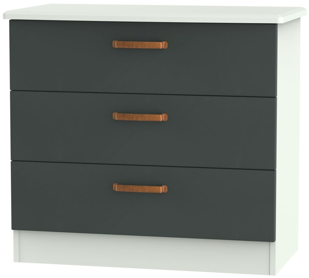 Buckingham Graphite Chest of Drawer - 3 Drawer