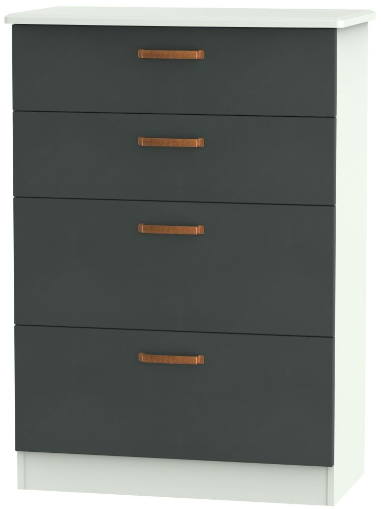 Buckingham Graphite 4 Drawer Deep Chest