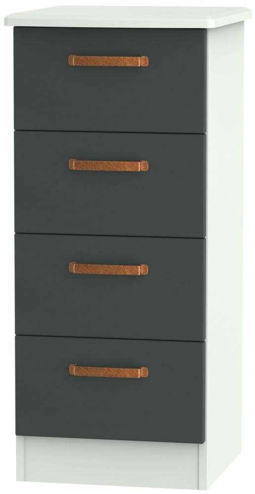 Buckingham Graphite 4 Drawer Tall Chest