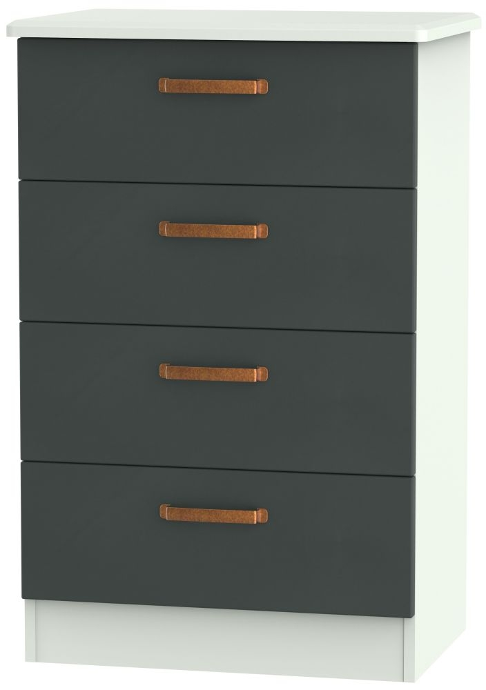 Buckingham Graphite 4 Drawer Midi Chest