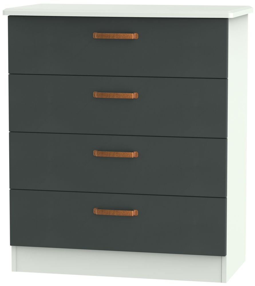 Buckingham Graphite 4 Drawer Chest