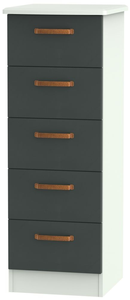 Buckingham Graphite 5 Drawer Locker Chest