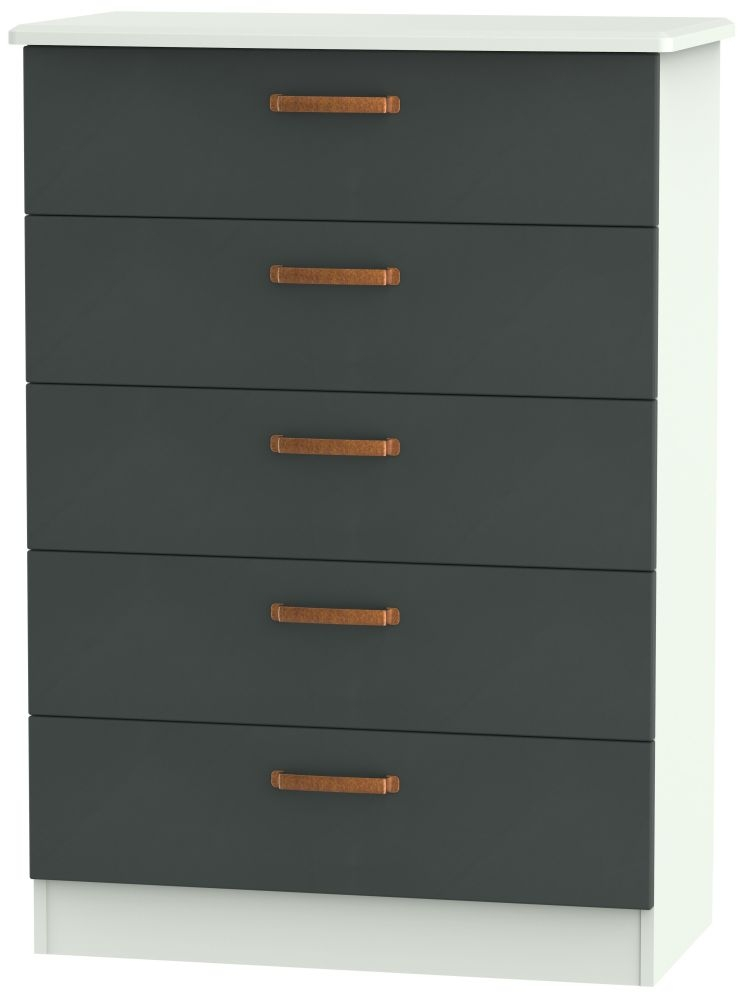 Buckingham Graphite 5 Drawer Chest